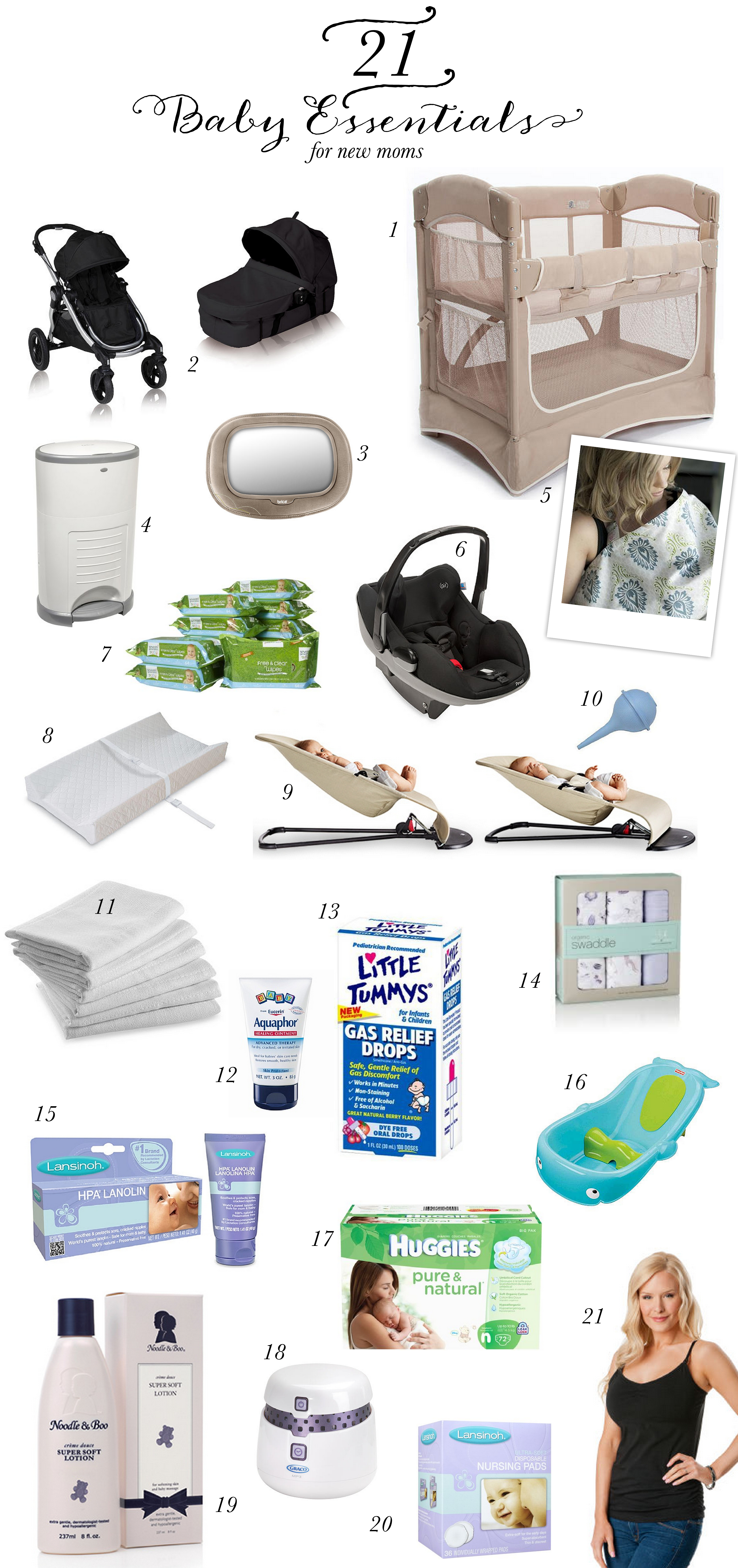 21 Baby Essentials for New Moms